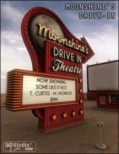 cartaz Moonshine& Drive-In Movie Theatre Moonshine& Drive-In Movie Theatre Drive In Cinema, Drive In Movie Theater, Theater Days, Movie Drive, Cinema Cinema, Vintage Movie Theater, Vintage Movies, Vintage Stuff, Okinawa