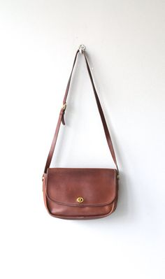 Coach leather saddle bag brown leather Coach bag by DearGolden