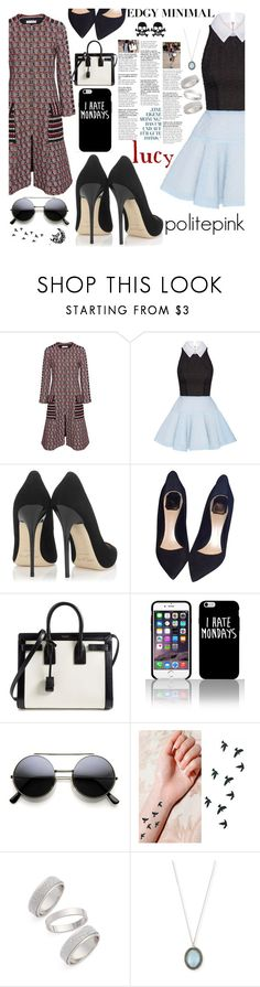 """""""#796 - lucy hale"""" by politepink ❤ liked on Polyvore featuring Oscar de la Renta, Alex Perry, Jimmy Choo, Christian Dior, Yves Saint Laurent, Topshop and Armenta"""