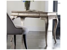 Hooker Furniture Melange Silver with Gold 42''L x 24''W Rectangular Palladium Writing Desk