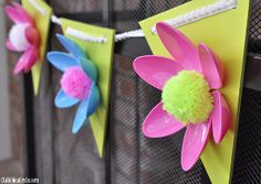 What an adorable DIY garland for spring! I didn't know you could use plastic spoons for things like this!
