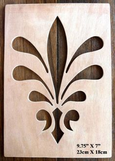 Beautiful Large Sized Hand Crafted MDF 'Decorative Floral Design' Drawing Template / Stencil - Size: x Overall x Stencil Patterns, Stencil Painting, Stencil Designs, Fabric Painting, Designs To Draw, Stenciling, Articles En Bois, Drawing Templates, Scroll Saw Patterns