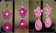 Paper quilled earrings - :