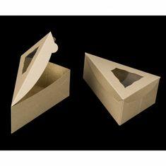 3510 - 6 x 4 x 2 Brown/Brown Pie Slice Box with Window - cake slice Cake Boxes Packaging, Dessert Packaging, Food Packaging Design, Brownie Packaging, Cake Slice Boxes, Box Cake, Pie Box, Individual Pies, Cake Logo Design