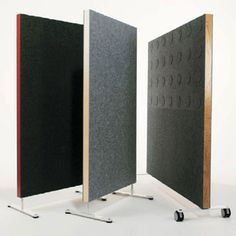 Nina Jobs DoReMi Screen DoReMi is a screen for office and public areas. Frame of solid wood with edging in birch and oak veneer and an acoustic filling of 50 mm mineral wool.  On both sides a 6 mm felt panel in white, light grey and dark grey is applied. Thickness of screen 62 mm. No tools needed for assembly.