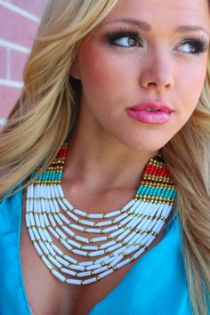 Modern Vintage Boutique - Amazon Necklace Cream, $26.00 (http://www.modernvintageboutique.com/amazon-necklace-cream.html)