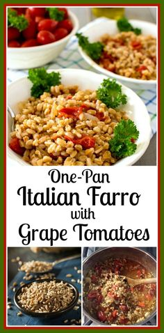 One-Pan Italian Farro with Tomatoes a delicious quick meal @allourway.com