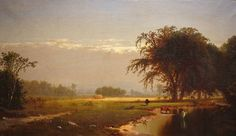 Henry Walcott Boss (1827-1916). Haying, c.1860-70. Oil on canvas measures 14 x 24 inches, 16 x 26 inches in a c.1900 frame. Excellent condition, recently cleaned by our conservator.  To learn more about Henry Walcott Boss visit the Terenchin website: http://www.terenchin.com/2014/04/05/henry-walcott-boss-1827-1916/ or stop in to the gallery at 533 Warren Street in Hudson.