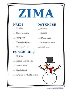 Tak jak? DŠ, nebo ne?: Inspirace: Zima Science Projects, School Projects, Diy For Kids, Crafts For Kids, Winter Activities For Kids, Activity Board, Environmental Education, Celebration Quotes, Teacher Hacks