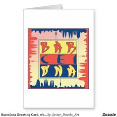 Barcelona Greeting Card, white envelopes included Greeting Card