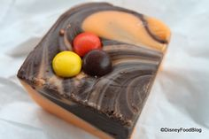 Here is something for my Must Try list: Reese Pieces Fudge at the Main Street Confectionary, they bring it out around the time Mickeys Not So Scary Halloween Party starts.