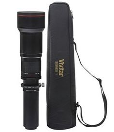 Vivitar 650-1300mm f/8-16 Telephoto Zoom Lens for Canon EOS Digit Rebel T3i 600D