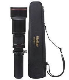 Vivitar 650-1300mm f/8-16 Telephoto Zoom Lens for Canon EOS Digit Rebel T3i 600D