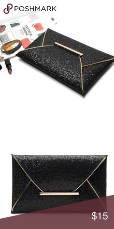 Brand New Glitter Oversized Clutch Purse Simply Beautiful!! Brand New  Makes a great addition to any outfit!! Bags Clutches & Wristlets