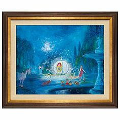 Disney A Dream Is a Wish Your Heart Makes Limited-Edition Gicle | Disney StoreA Dream Is a Wish Your Heart Makes Limited-Edition Gicl�e - ''Impossible things are happening everyday'' as captured in this luscious painting of that magical, enthralling moment in 1950's ''Cinderella'' when the Fairy Godmother casts her spell of enchantment turning an ordinary pumpkin into a gilded carriage.