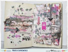 Marta Lapkowska with a journal page; May 2015