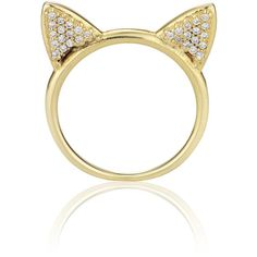 Aamaya By Priyanka Cat Ears Ring ($99) ❤ liked on Polyvore featuring jewelry, rings, accessories, anillos, bijoux, gold jewellery, yellow gold jewelry, yellow gold band ring, yellow gold rings and gold ring