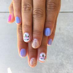 Unicorn nails Little girl nails Gel polish designs hairandnailsbykyra Unicorn Nails Designs, Unicorn Nail Art, Unicorn Kids, Little Girl Nails, Girls Nails, Baby Girl Nails, Trendy Nails, Cute Nails, Hair And Nails