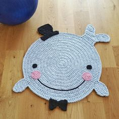 Always a unique: handmade crochet Rug High quality workmanship! This handmade Walteppich fits perfectly into every childs room and also protects Crochet Gifts, Crochet Doilies, Doily Rug, Crochet Rugs, Animal Rug, Knit Rug, Crochet Carpet, Knitting Accessories, Crochet For Kids