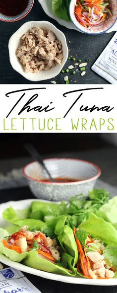 These Thai Tuna Lettuce Wraps are easy and delicious. They are made with fresh and colorful ingredients, and premium 100% line caught wild Albacore tuna from Blue Harbor Fish Co.  This recipe is full of color, crunch and wow-flavor.    AD https://www.buythiscookthat.com/thai-tuna-lettuce-wraps/