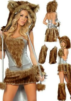 Brown Deluxe Fur Bear Animal Cosplay Costume
