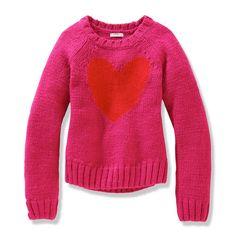 Kid Girls' Heart Sweater