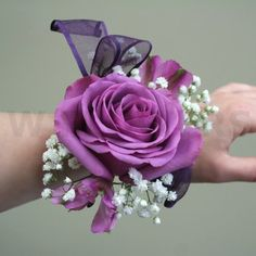 Purple Flowers for Corsages | Flowers product: Prom Corsage with Purple Rose