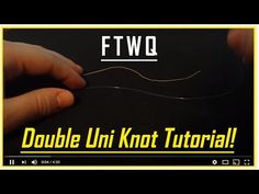 Fishing Knots: Double Uni Knot - How to Tie Braid to Fluorocarbon or Braid to Mono Strongest Fishing Knots, Best Fishing Knot, Bass Fishing Lures, Surf Fishing, Uni Knot, Fish Bites, Sea Fish, Braids, Tie