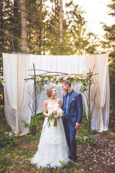 Whimsical Styled Forest Elopement on Vancouver Island http://www.chelseadawn.ca