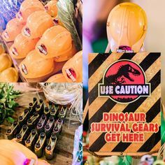 Favors from a Jurassic Park Themed Birthday Party via Kara's Party Ideas Birthday Party At Park, Dinosaur Birthday Party, 6th Birthday Parties, 7th Birthday, Birthday Ideas, Fête Jurassic Park, Jurassic World, Festa Party, Lego