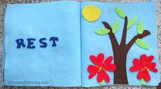 Creation: Rest - No Sew Quiet Book for Toddlers - Powerful Mothering Bible Quiet Book, Busy Book, Quiet Books, Felt Busy Bag, 7 Days Of Creation, Sewing Projects, Craft Projects, Felt Stories, Felt Letters