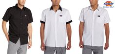 3 PACK Dickies Cook Shirts Men Short Sleeve Work Shirt Men & Women XS-5XL DC126