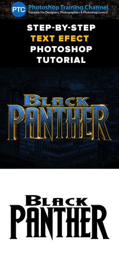 In this Photoshop tutorial, you will learn how to recreate the Black Panther movie poster text effect.  To recreate this text effect we will use stacks of Layer Styles to create the texture, chrome, and other effects found in this movie poster text effect.