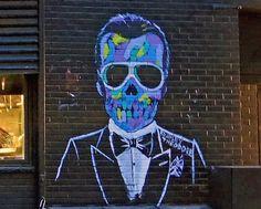 Bradley Theodore on the Lower East Side -- as seen earlier this evening in the dark. #BradleyTheodore #streetart