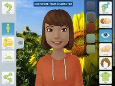 Apres avoir créé son avatar, l'élève s enregistre. Bien pour présentations, poésies, ...