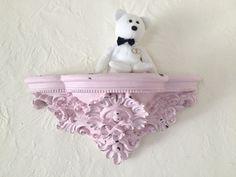 Shabby chic ornate shelf pink large distressed by MySugarBlossom