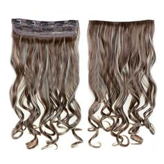 Long Curled Hair Extension 5 Cards Hairpiece - F12/613#