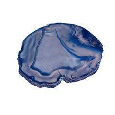 Brazilian Blue Agate Plate - Large   Rain Collection
