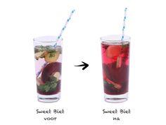 Detox Fruit Water Rode Biet Gember Peterselie