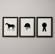 Equestrian Silhouette Art   Art   Restoration Hardware Baby & Child