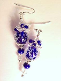 Blue Wisp Earrings