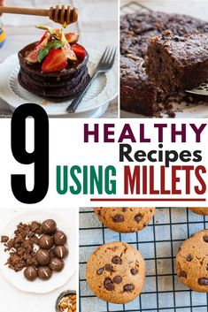 How to Introduce Millets in our diets - Why eat millet and what's the comparison of Millets to Wheat & Rice along with winner Millet recipes! Healthy Dessert Recipes, Lunch Recipes, Indian Food Recipes, Dinner Recipes, Recipe Using Quinoa, Milk Dessert, Millet Recipes, Healthy Weeknight Meals, Wheat Free Recipes