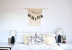 No-Knit DIY Wall Hanging + Peek Into Our Bedroom!
