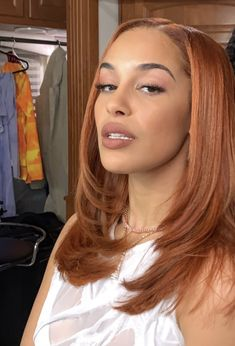 Baddie Hairstyles, Pretty Hairstyles, Candy Hair, Natural Hair Styles For Black Women, Natural Styles, Dyed Natural Hair, Aesthetic Hair, Dream Hair, Ginger Hair