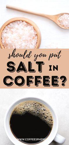 We found 6 facts about adding salt to coffee. Salt In Coffee, Coffee Cups, Coffee Facts, Alton Brown, Advertising, Ads, Coffee Tasting, Baking Ingredients, Caffeine