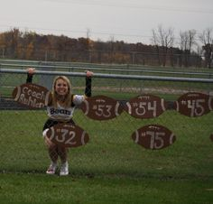 homecoming or senior night idea? Also, names instead of numbers? Football Spirit, Football Is Life, Youth Football, School Football, Football Signs, Football Stuff, Football Season, Football Favors, Football Posters