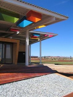What if... we built a roof over our outdoor classroom with colored glass windows?  OLIFANTSVLEI SCHOOL