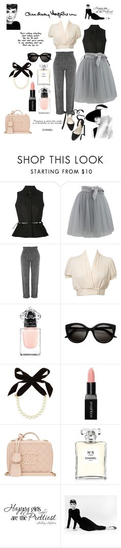 """STYLE ICON: Audrey Hepburn ♡"" by egchee ❤ liked on Polyvore featuring Pour Moi?, Alexander Wang, Chicwish, Topshop, Miss Selfridge, Guerlain, Lulu Frost, Smashbox, Chanel and WALL"