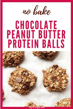NO BAKE CHOCOLATE PEANUT BUTTER BALLS Need a quick, healthy snack for the kiddos? My kids love these and I feel good about giving them! You likely already have the ingredients in your home to whip these up in no time. Make a big batch once a week and you have an easy, protein packed snack when hunger strikes!