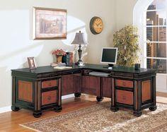 Coaster Fine Furniture 800691 Chomedey Traditional L-Shaped Desk